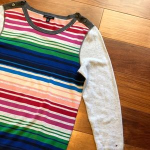 Sweaters - Tommy Hilfiger Rainbow Striped Women's Sweater